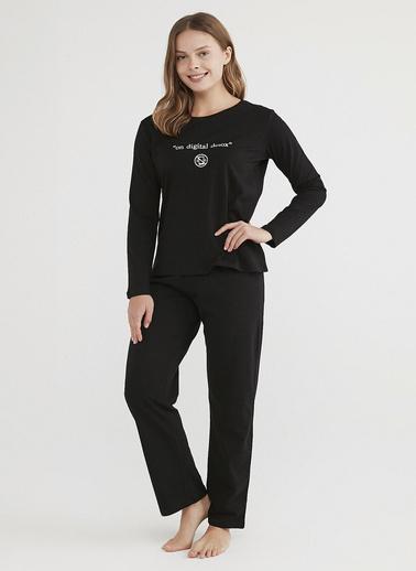 Penti Siyah Base Detox Pijama Takımı Siyah